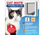 CAT MATE CAT FLAP WITH DOOR LINER - WHITE*+