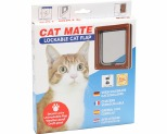 CAT MATE LOCKABLE CAT FLAP - BROWN *+