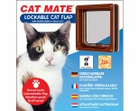 CAT MATE CAT FLAP WITH DOOR LINER - BROWN *+