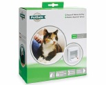 STAYWELL DELUXE MANUAL 4-WAY LOCKING CAT FLAP WHITE