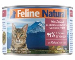 FELINE NATURAL CANNED CHICKEN AND VENISON 170GM