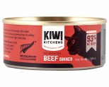 KIWI KITCHENS CAT BEEF WET 85G