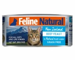 FELINE NATURAL CANNED BEEF CAT FOOD 85G X 24
