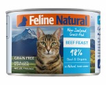 FELINE NATURAL CANNED BEEF CAT FOOD 170G