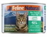 FELINE NATURAL CANNED LAMB FEAST CAT FOOD 170G X 24