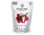 MEOW FREEZE DRIED CAT FOOD BEEF & HOKI FISH 50GM