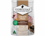 IVORY COAT CAT ADULT CHICKEN & KANGAROO IN GRAVY 85G