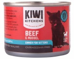 KIWI KITCHENS KITTEN BEEF AND MUSSEL CAN 170GX24**