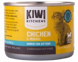 KIWI KITCHENS KITTEN CHICKEN AND MUSSEL CAN 170GX24