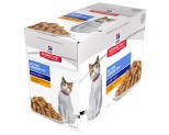 HILL'S SCIENCE DIET SENIOR WET CAT FOOD CHICKEN ADULT 7+ POUCHES 12X85G