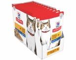 HILL'S SCIENCE DIET SENIOR WET CAT FOOD CHICKEN ADULT 7+ POUCHES 12X85G