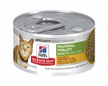 HILL'S SCIENCE DIET YOUTHFUL VITALITY WET CAT FOOD CHICKEN & VEGETABLE STEW ADULT 7+ CAN 82G