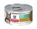 HILL'S SCIENCE DIET PERFECT WEIGHT ENTRÉE WET CAT FOOD LIVER & CHICKEN ADULT CAN 82G**