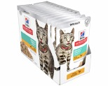HILL'S SCIENCE DIET PERFECT WEIGHT WET CAT FOOD CHICKEN RECIPE ADULT POUCHES 12X85G