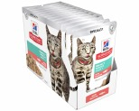 HILL'S SCIENCE DIET ADULT PERFECT WEIGHT CAT POUCHES SALMON 12X85G