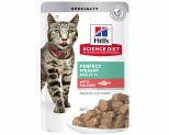 HILLS SCIENCE DIET ADULT PERFECT WEIGHT CAT POUCH SALMON 85G