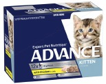 ADVANCE KITTEN 2-12 MONTHS WITH CHICKEN IN JELLY 85GX12