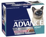 ADVANCE CAT 1+ YEARS ADULT OCEAN FISH IN JELLY 85GX12