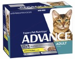ADVANCE CAT 1+ YEARS ADULT CHICKEN & TURKEY IN JELLY 85GX12