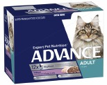 ADVANCE CAT 1+ YEARS ADULT LIGHT CHICKEN & TURKEY IN JELLY 85GX12