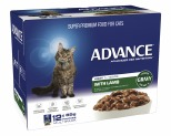 ADVANCE CAT 1+ YEARS ADULT LIGHT LAMB IN GRAVY 85GX12