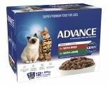 ADVANCE CAT 1+ YEARS ADULT MULTI PACK TENDER CHUNKS IN GRAVY 85GX12