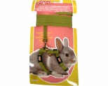 LIVING WORLD DWARF RABBIT HARNESS/LEAD SET - GREEN