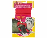 LIVING WORLD FERRET HARNESS/LEAD SET - RED