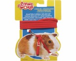LIVING WORLD GUINEA PIG HARNESS/LEAD SET - RED