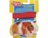 LIVING WORLD GUINEA PIG HARNESS/LEAD SET - RED