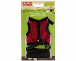 LIVING WORLD SMALL ANIMAL FABRIC HARNESS AND LEAD SET ASSORTED COLOURS MEDIUM