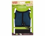 LIVING WORLD SMALL ANIMAL FABRIC HARNESS AND LEAD SET ASSORTED COLOURS LARGE
