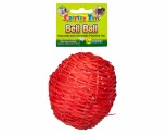 """WARE CRITTER TOY W/BELL BALL BAMBOO CHEW 4""""**"""