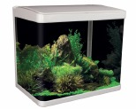 AQUA ONE LIFESTYLE 29 GLASS AQUARIUM 29L WHITE~