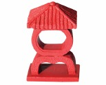 AQUA ONE ORNAMENT RED JAPANESE SHRINE SMALL