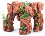 KAZOO RED STONEHENGE WITH PLANT - MEDIUM