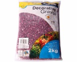 AQUA ONE DECORATIVE GRAVEL PURPLE 2KG 7MM