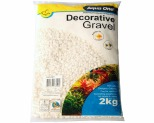 AQUA ONE DECORATIVE GRAVEL WHITE 2KG 7MM