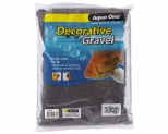 AQUA ONE DECORATIVE GRAVEL BLACK SILICA 2KG 1MM NO.1
