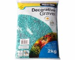AQUA ONE DECORATIVE GRAVEL AQUA 2KG 7MM