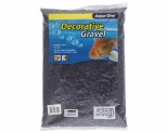 AQUA ONE DECORATIVE GRAVEL BLACK 5KG 7MM