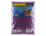 AQUA ONE DECORATIVE GRAVEL PURPLE 5KG 7MM
