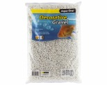 AQUA ONE DECORATIVE GRAVEL WHITE 5KG 7MM
