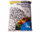 AQUA ONE DECORATIVE GRAVEL MIXED WHITE BLACK 2KG 2MM