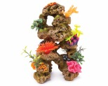 KAZOO REEF ROCK WITH CORAL & PLANTS - LARGE