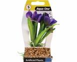 AQUA PLASTIC PLANT VIOLET 14.5CM