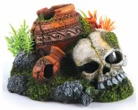 KAZOO SKULL WITH PLANTS & AIR - SMALL