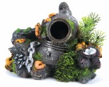 KAZOO DIVERS HELMET WITH PLANTS - SMALL