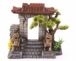 KAZOO CHINESE GATE WITH PLANTS - MEDIUM