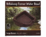 URS BILLABONG CORNER BOWL BROWN 250X235X85MM 1.35LITRE - LARGE